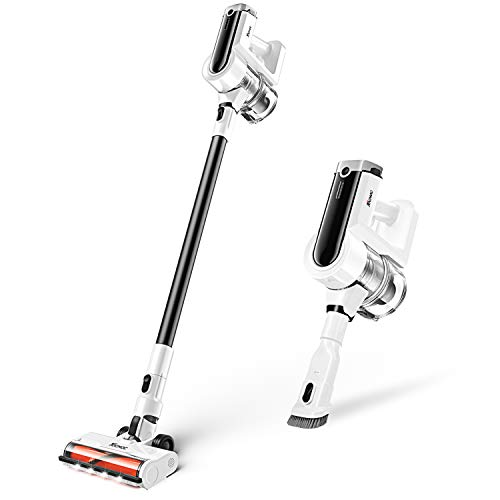Tocmoc Cordless Vacuum Cleaner, Stick Vacuum Cleaner with 300W Brushless Motor 23Kpa Super Strong Suction Power 4 in 1 Handheld Vacuum for Pet Hair Carpet and All Kind of Floor Types, T230