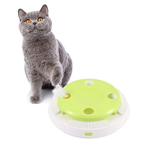 CestMall Interaktives Elektrischer Katzenspielzeug, Elektronisches automatisches Katzenspielzeug mit zufällig rotierender Feder und automatischer EIN/AUS-Funktion, 8 Steckdosen Pop, für Katze