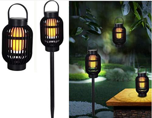 Posten Anker Premium LED Solar Gartenstecker 2in1   Windlicht mit Flammeneffekt für den Tisch   zum Aufhängen   inkl. Solarpanel & Tageslichtsensor   wetterbeständig   warmweißes Licht bis zu 8 Std.