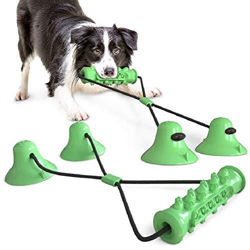 Fuyamp Aggiornamento cane corda di aspirazione spazzolino molare bastone masticare, più robusto cucciolo cane cane rimorchiatore giocattolo (verde)