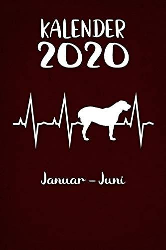 Kalender 2020: Roter Tageskalender Alabai Herzschlag Hunde 1. Halbjahr Januar Juni ca...