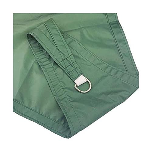 FHJL Sombrilla de sombrilla al Aire Libre de Cuatro rincinas de Cuatro Esquinas Sombrillas de Paseo Multiusos Camping con Dos propósitos Anti-Seepage Water Sun Pantalla T Dark Green- 3×3m