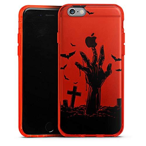 DeinDesign Silikon Hülle Case Schutzhülle für Apple iPhone 6 Zombie Halloween ohne Hintergrund