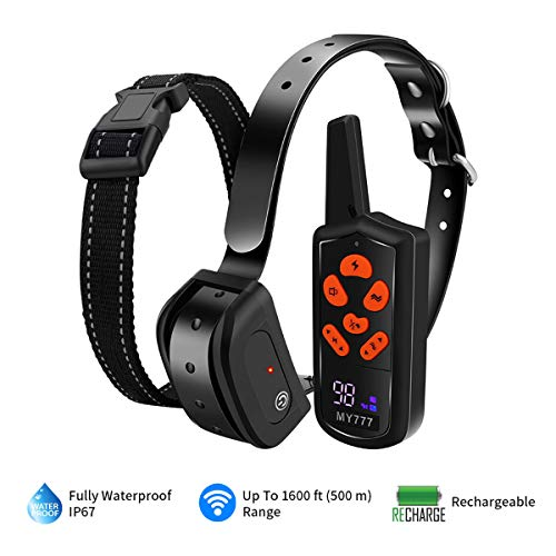 Dog Training Colla rwith Remote-Rechargeable Dog Shck Collar for Dogs Large,Medium,Small-Corrective Collar 3 Training Modes, Beep, Vibration,Shock Collar 1~100 Shock Level 1800ft Remote Range