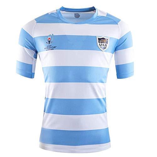 FANS LOVE 2019 Uniforme Copa Mundial De Fútbol Argentina Pumas RWC Rugby Fan De Deporte Jersey Camiseta Blue-S