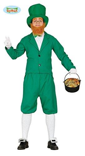 Generique - Grünes Leprechaun Kostüm für Herren St. Patricks Day M (48-50)