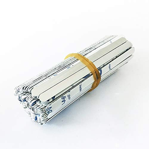 Litthing 100 Pcs Clip para Puente de Nariz,90mm, Aluminio,Nariz Puente Tira, Metal para Puente de Nariz,Soporte para Puente de Nariz,Alambre de Nariz Flexible para DIY Fabricación Manualidades