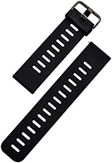 For Xiaomi Huami Amazfit PACE- Premium Silicone Smart Watch Band Wrist Strap - Black Red
