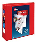 Avery Heavy Duty View 3 Ring Binder,3' One Touch EZD Ring, Holds 8.5' x 11' Paper, 1 Red Binder (79325)