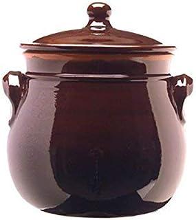 colì maioliche y TERRECOTTE Desde 1650Brunella Olla abombada con Tapa, Terracota, marrón, 16x 16x 20cm