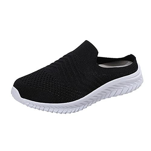 URIBAKY - Zapatos de senderismo para mujer, zapatos de ocio, transpirables, suaves y cómodos, para exteriores, para senderismo, Le Noir, 41 EU