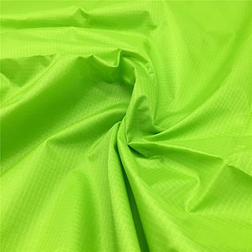 ZAIONE - Tessuto in poliestere Ripstop impermeabile al metro, larghezza 150 cm, resistente alla polvere, rivestimento in poliuretano antistrappo, per aquiloni, bandiera, tovaglia, Verde lime