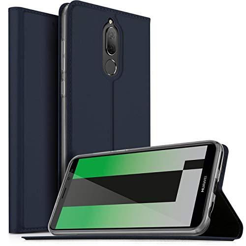 Verco Handyhülle für Mate 10 Lite, Premium Handy Flip Cover für Huawei Mate 10 Lite Hülle [integr. Magnet] Book Hülle PU Leder Tasche, Blau