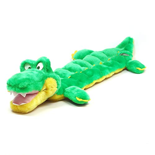 Kyjen Plush Puppies Alligator Squeaker Dog Toy (16 Squeakers)