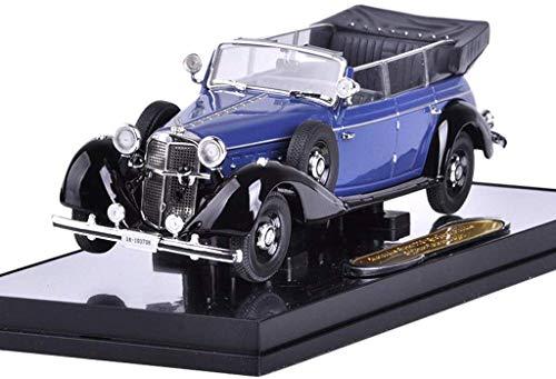IAIZI Modelo de Coche uno y Cuarenta y Tres Mercedes-Benz Benz 770K Convertible Edición simulado aleación Modelo de Coche (Color: Azul) ZGHE (Color : Blue)