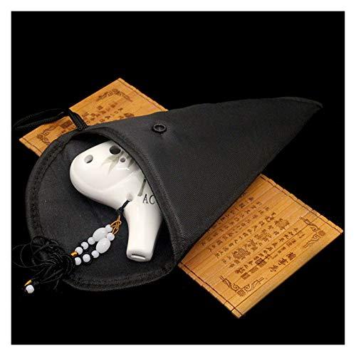 OYPY Cerámica de 12 Orificios Ocarina Bolsa Protectora Impermeable por Impermeable for Ocarina Bolsa de Almacenamiento Negro Accesorios
