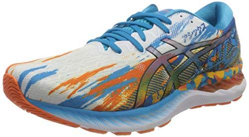 Asics Gel-Nimbus 23, Road Running Shoe Hombre, Digital Aqua/Marigold Orange, 44.5 EU