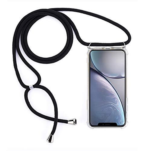 Amokee Handykette Hülle für iPhone 11 Necklace Hülle mit Kordel zum Umhängen iPhone 11 Silikon Handy Schutzhülle mit Band Handyhülle für Smartphone zum Umhängen Transparent Acryl Case für iPhone 11