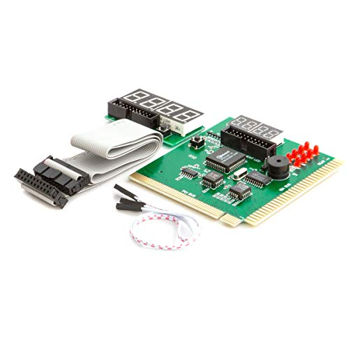 Kingwin PC Computer Motherboard Analyzer Kit [Digital PCI & ISA PC SDRAM NA Motherboard]. 4 Digit PCI & ISA PC Tester, Diagnostic Debug Post Card External Display (CMBA-4)