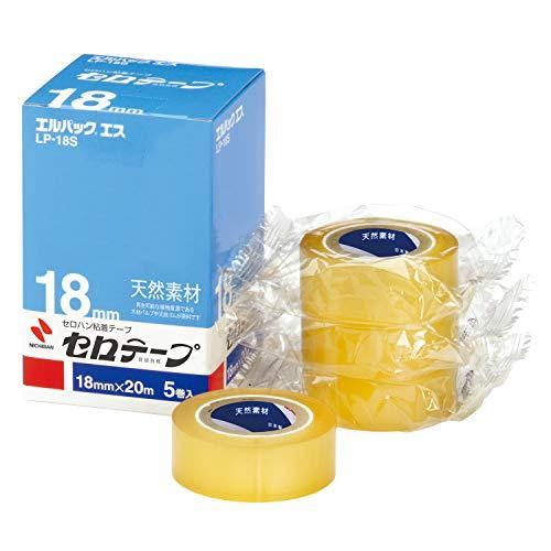 ニチバン セロテープ 小巻 エルパックエス 5巻入 18mm×20m LP-18S