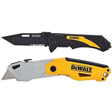 Dewalt Autoload Utility Knife and Pocket Knife Combo (2-piece)