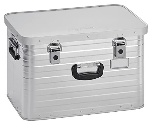 Enders Alubox 63 Liter + Schloss Set, hochwertig verarbeitet mit Moosgummidichtung, Alukiste verwendbar als Transportbox, Lagerbox - Alukoffer Lagerkisten Metallkiste Metallbox Aluboxen Alukisten