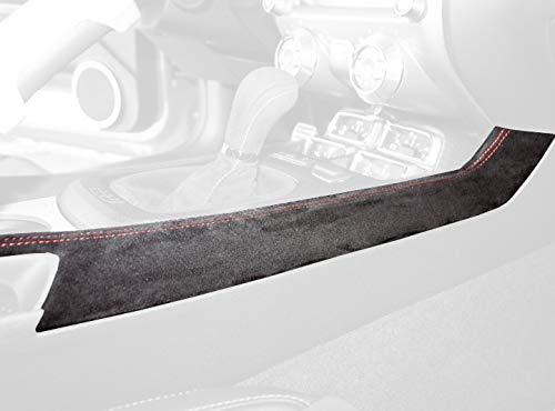 RedlineGoods Konsolebedeckung kompatibel mit Camaro 2010-15 Leder Sierra Stich Schwarz