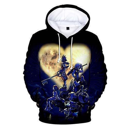 YJXDBABY-Kingdom Hearts-Men's Pullovers, 3D Printed Sweatshirts, Casual Hoodies, Children's Jackets, Children's Clothing, Boy/Girl Jackets-XL