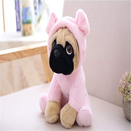 Knuffel Zand Hond Mopshond Knuffel Schattig Laat Zacht Gevulde Pop Hond Hond Cosplay Kinderen Kinderen Kinderen Verjaardagscadeau 30 Cm Roze