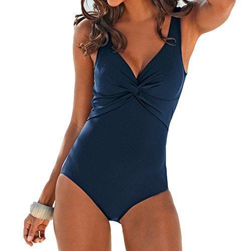 Juleya Damen Einteilige Badeanzug Schwimmanzug Sommer Frauen Badeanzug Swimsuit Hohe Elastizität Bademode Sport-Badebekleidung Monokini Einteiler S-XXXXXL