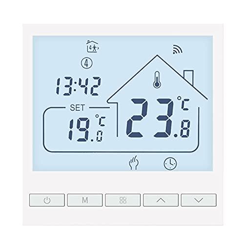 Beok Tuya Termostatos Inteligentes Termostato de calefacción Termostato WiFi Termostato Inteligente de Pared para calefacción eléctrica por Suelo Radiante Compatible con Alexa, Google 16A TOL47WIFI