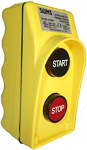 SUNS CSB-276Y UL Listed Yellow Start/Stop Pendant Station 1NO/1NC