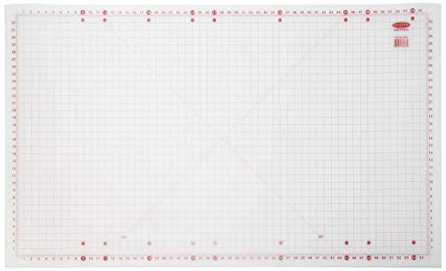 "Sullivans 36""x59"" Cutting Mat for Home Hobby Table, White"