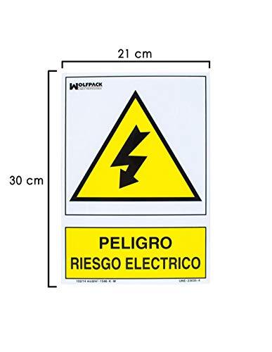 pequeño y compacto Riesgo de descarga eléctrica Póster 30 x 21 cm.
