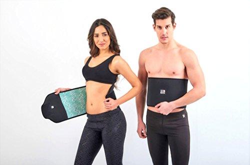 FIR TECH Schwitzgürtel | Fitnessgürtel | Bauchweggürtel für Eine schmalle Taille Zum Abhnehmen (Large)
