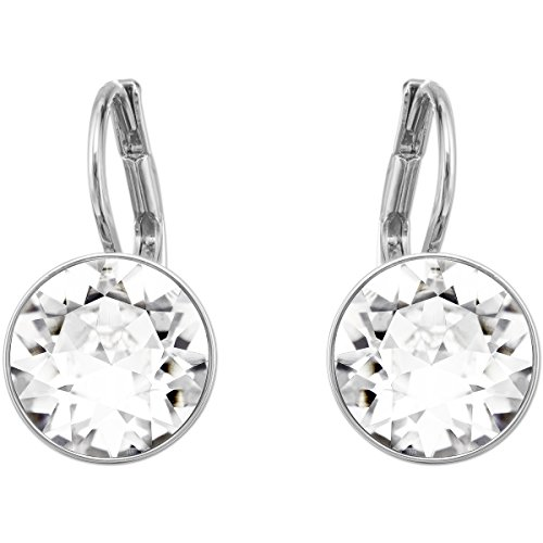 Swarovski Bella Drop Mini Pierced Earrings, with Clear Crystals and Rhodium Plated Setting, a Part of the Bella Collection