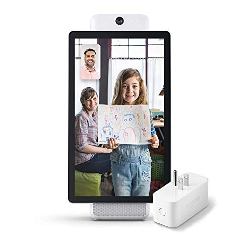 Portal Plus from Facebook bundle with Amazon Smart Plug - White