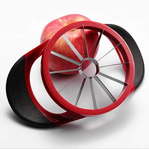 Apfelzerteiler, 8 Klingen Apfelschneider Apfelteiler Cutter, Teiler, Wedger, Integriertes Design Obst & Gemüse Slicer für Äpfel, Kartoffel, Zwiebel, Rot