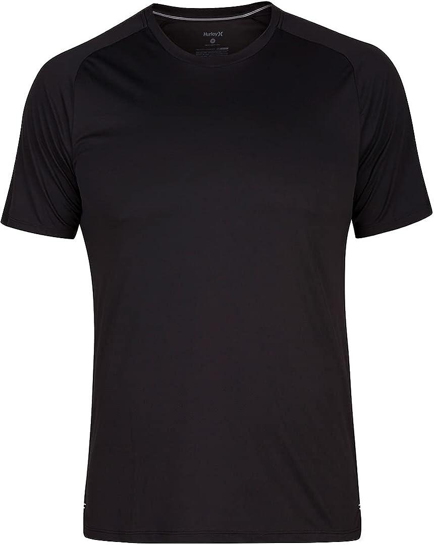 Hurley Men's Standard Nike Dri-fit Short Sleeve Sun Protection +50 UPF Rashguard
