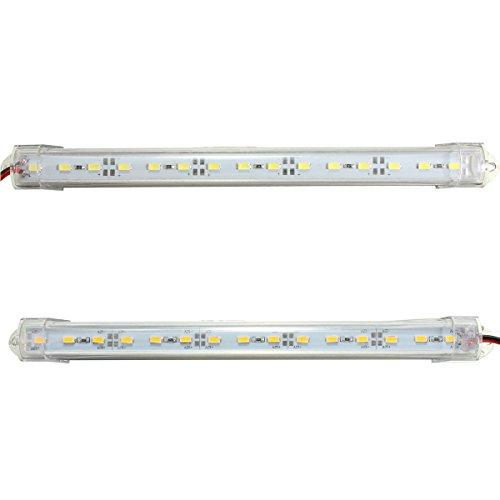 LEDMOMO Auto Lichtleiste Innenraumbeleuchtung LED Lichtleiste für Auto Dekor 12 V 15 LED 2 Stücke