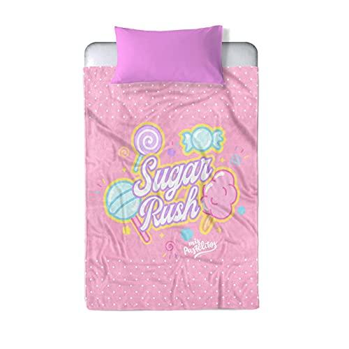 Providencia Cobertor Individual. Mis Pastelitos Sugar Rush. Cobertor para Niñas y Niños. Cobertor para Cama Individual. ¡Disfruta de los Mejores diseños