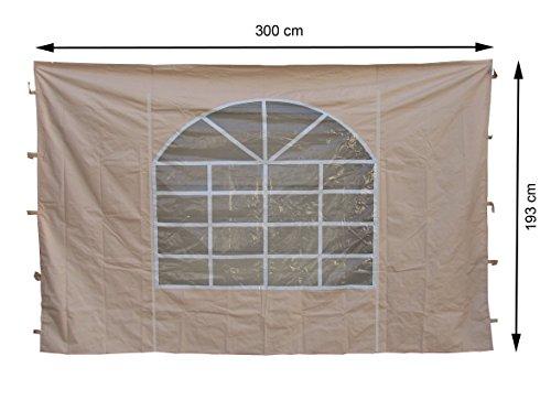 GRASEKAMP Qualität seit 1972 2 Seitenteile 300x193cm zu Sahara 3x3m Sichtschutz Sonnenschutz Windschutz