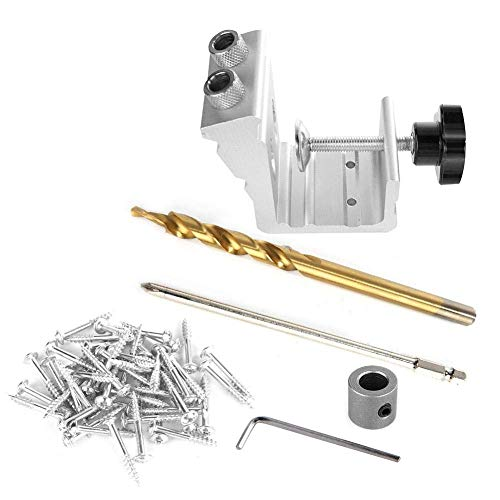 MOZUSA 3 in 1 Wood Dowel Hole Jig Drill Bit Kit Woodworking Hole Locator Puncher Industrial tools