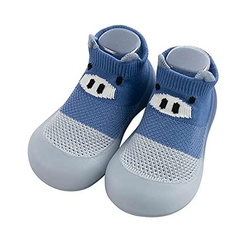 Baby Schuhe 0-6 monate Mädchen Lauflernschuhe Babyschuhe Jungen Krabbelschuhe Atmungsaktive Sockenschuhe Mesh Bodensocken Weicher Boden Cute Schwein Kleinkind Schuhe