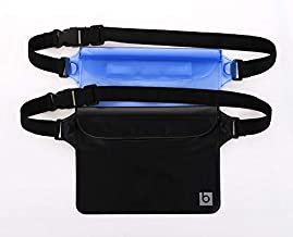 blue sky BASICS Waterproof Pouch with Waist Strap (2 Pack) | Best Way to Keep Your Phone..