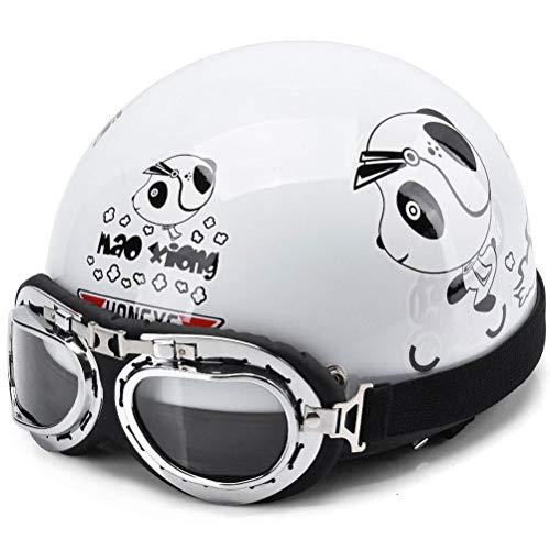 Witte helm, heren en dames vier seizoenen universele helm, distributieogen + kraag + hoed + stofzak