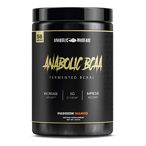 Anabolic BCAA Powder Supplement by Anabolic Warfare – BCAAs Amino Acids to Help Fuel Your Workout and Assist in Muscle Recovery (Passion Mango - 56 Servings)