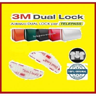 StickersLab - Dual lock SJ 3560 3M adesivo singoli sagomati per Telepass parabrezza auto (Quantità - 2 pezzi (48mm x 18mm))