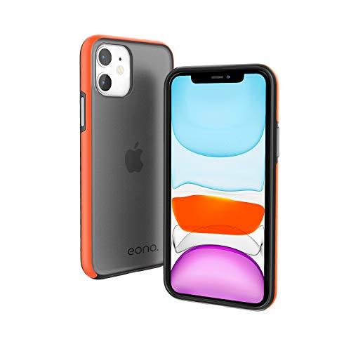 Eono by Amazon Funda para iPhone 11 (6.1'), Anti-Choques y Anti-Arañazos Carcasa, Híbrida TPU + PC Moda Teléfonos Case, Translúcido Cubierta para Apple iPhone 11 - Mate Negro