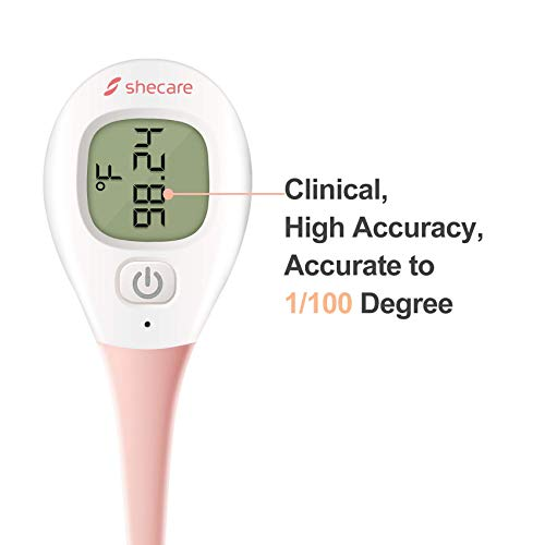 Shecare Digital Basal Body Thermometer for Ovulation ,Fertility BBT Thermometer High Precision Oral Thermometer ,Accurate 1/100th Degree Works with Shecare APP Basal Thermometer Basic Thermometer